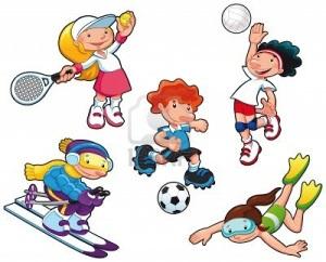 12454994-personajes-del-deporte-dibujos-aisladas-ninos-y-ninas